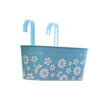 Závěsný truhlík Flowers modrá, 33 cm