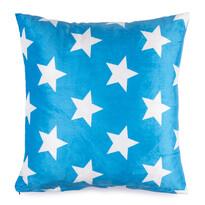Pernă micropluș Stars albastră, 40 x 40 cm