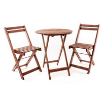Happy Green Acacia balkónový set 3dílný s okrúhlym stolom