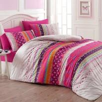 Lenjerie de pat, din bumbac, Melanie, roz, 140 x 200 cm, 70 x 90 cm