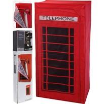 Látková šatní skříň Telefonní budka