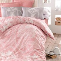 Homeville Pościel bawełniana Adeline pink, 220 x 200 cm, 2x 70 x 90 cm, 2x 50 x 70 cm