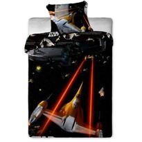 Gyermek pamut ágynemű garnitúra, Star Wars Spaceship, 140 x 200 cm, 70 x 90 cm