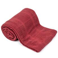 Bavlněná deka červená, 150 x 200 cm