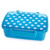 Svačinový box s víkem Dot, modrá
