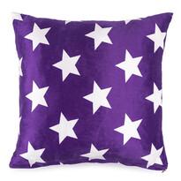 Vankúšik mikroplyš Stars fialová, 40 x 40 cm