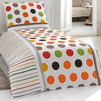 Bavlněné povlečení Pera oranžová, 140 x 200 cm, 70 x 90 cm
