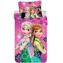 Detské bavlnené obliečky Ľadové kráľovstvo Frozen Beautiful sisters, 140 x 200 cm, 70 x 90 cm