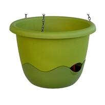 Samozavlažovací kvetináč Mareta 30 zelená, závesný