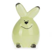 Dekoračný zajačik zelená, 8 cm