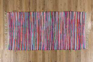Ručně tkaný koberec barevná, 40 x 60 cm