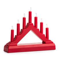 Vianočný LED svietnik, červená
