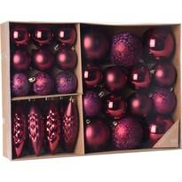 Sada vianočných ozdôb Terme červená, 31 ks