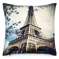 Față de pernă micropluș Turnul Eiffel, 40 x 40 cm