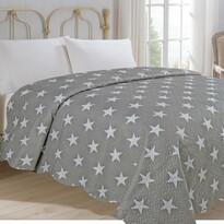 Narzuta na łóżko Stars szary, 220 x 240 cm