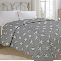 Prehoz na posteľ Stars sivá, 220 x 240 cm