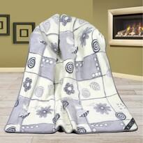 Vlnená deka Alpaka DUO patchwork, 155 x 200 cm