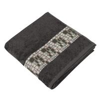 Ręcznik kąpielowy Kamienie ciemnobrązowy