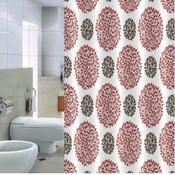 Sprchový závěs Pesaro červenošedá, 180 x 200 cm