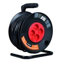 Sencor SPC 50 predlžovací kábel na bubně 4 zásuvkydĺžka 25 m čierny