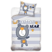 Dětské balvněné povlečení My Little Bear, 140 x 200 cm, 70 x 80 cm