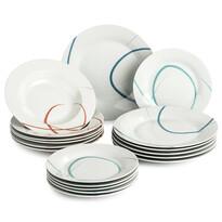 Banquet Pastelle tányérkészlet, 18 db