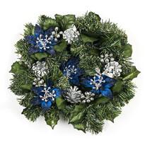 Vianočný veniec modrá