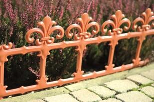 Záhradný plôtik Art 34 cm teracota