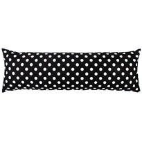 4Home povlak na Relaxační polštář Náhradní manžel Černý puntík, 50 x 150 cm