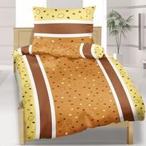 Lenjerie de pat din crep, DE Luxe, Buline, 2 pers., 240 x 220 cm 2buc. 70 x 90 cm