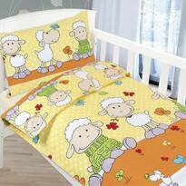 Dziecięca pościel bawełniana do łóżeczka Agata – Owieczki, 90 x 135 cm, 45 x 60 cm