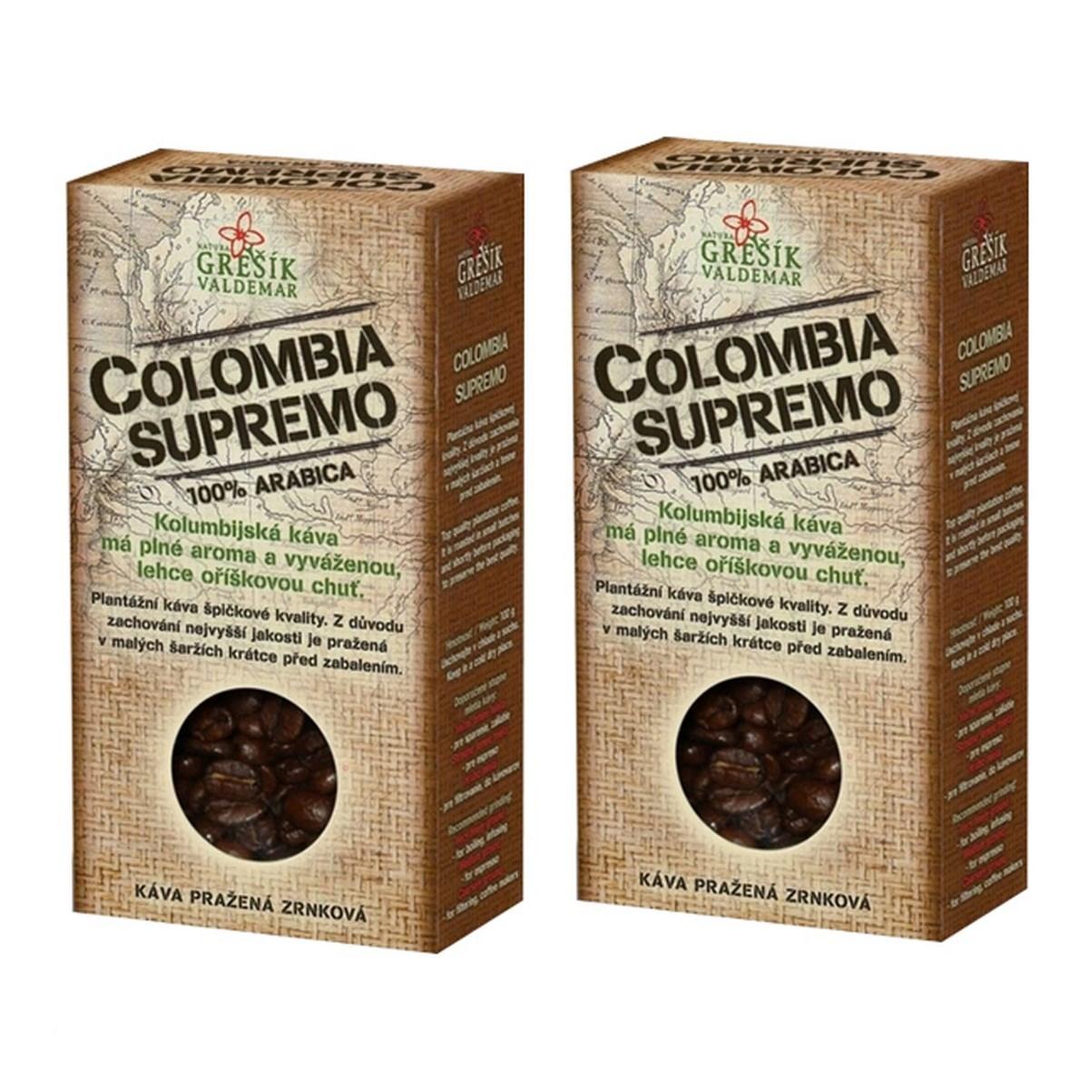 Balení 2 ks Colombia Supremo káva 100g