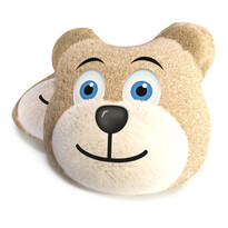 Medve barna formázott párna, 40 cm