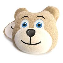 Tvarovaný polštářek Medvěd hnědá, 40 cm