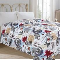 Prehoz na posteľ Hodiny, 140 x 220 cm