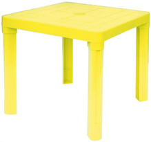 Plastový detský stôl, žltá