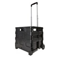Skladací prepravný vozík, čierna