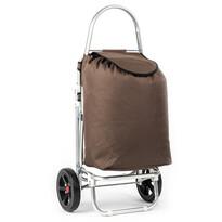 Nákupná taška na kolieskach Roma hnedá