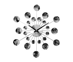 Nástěnné hodiny Lavvu Crystal Sunlight černá, pr. 49 cm