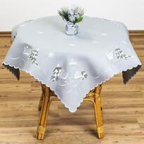 Vánoční ubrus chaloupky šedá, 85 x 85 cm