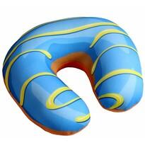 Pernă voiaj Donut, albastru, 30 x 30 cm