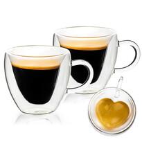 4home Szklanka termiczna Big Heart Hot&Cool 250 ml, 2 szt.