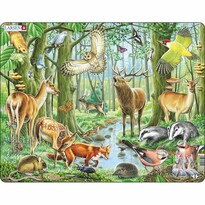 Larsen Puzzle Európsky les, 40 dielikov