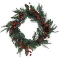 Minturno karácsonyi koszorú, zöld, 45 cm