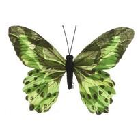 Dekorační Motýlek zelená, 20 cm