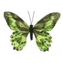 Dekoračný Motýlik zelená, 20 cm