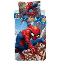 Lenjerie de pat din bumbac, pentru copii,  Spiderman climbs, 140 x 200 cm, 70 x 90 cm