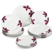 Banquet Purple súprava tanierov, 18 ks