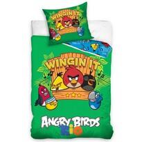 Detské bavlnené obliečky Angry Birds Music, 140 x 200 cm, 70 x 80 cm