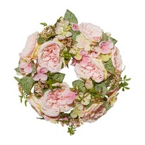 Coroniță artificială romantică Trandafiri  diametru 32 cm